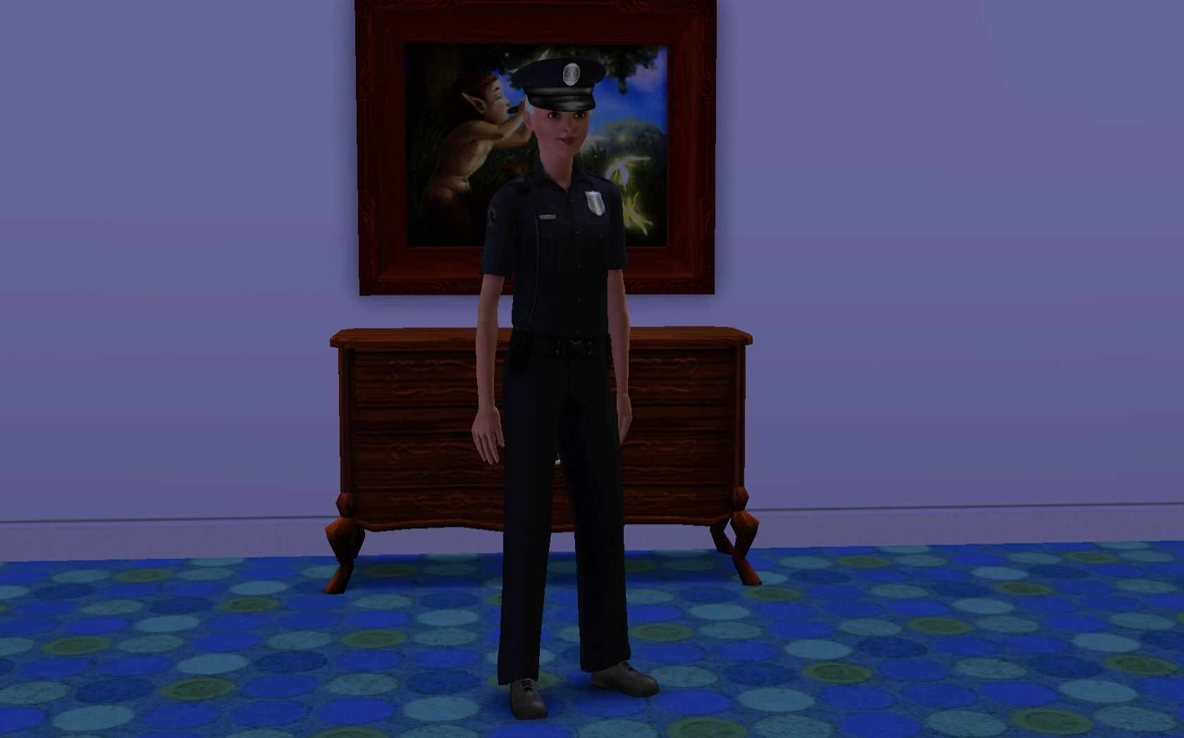 the sims 3 law enforcement career track get a police car