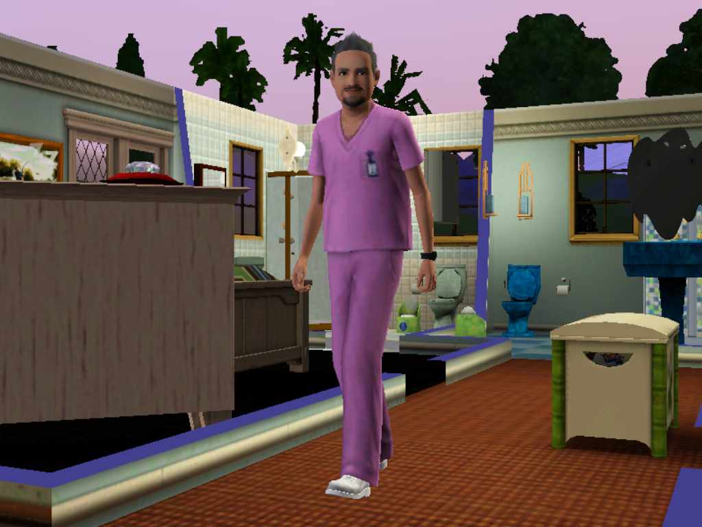 Sims 3 Bed Pan Cleaner Uniform