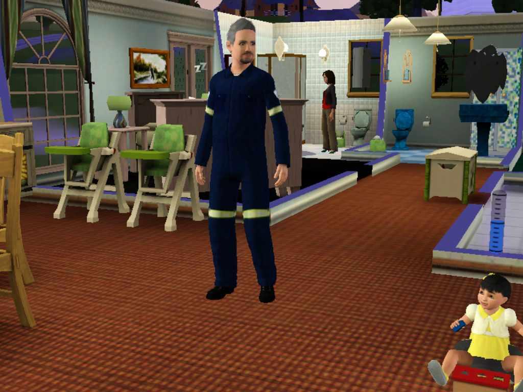Bed Pan Cleaner Uniform Sims 3 Paramedic