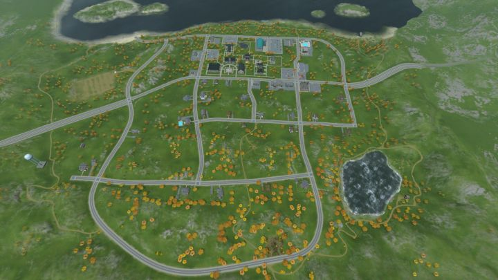 The Sims 3 University Life - The University Campus birds-eye view
