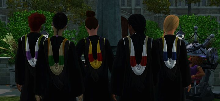 The Sims 3 University Life Graduation Robes