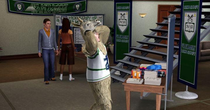 The Sims 3 University Life - The Llama Mascot