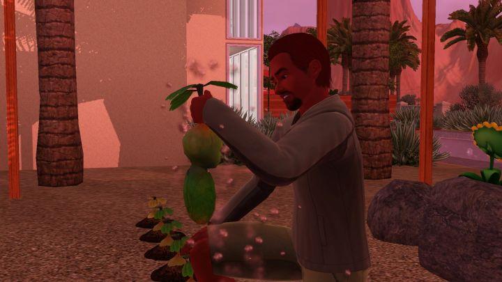 The Sims 3 University Life - Harvesting a baby PlantSim
