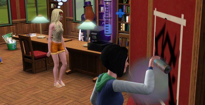 The Sims 3 University Life Street Art Skill