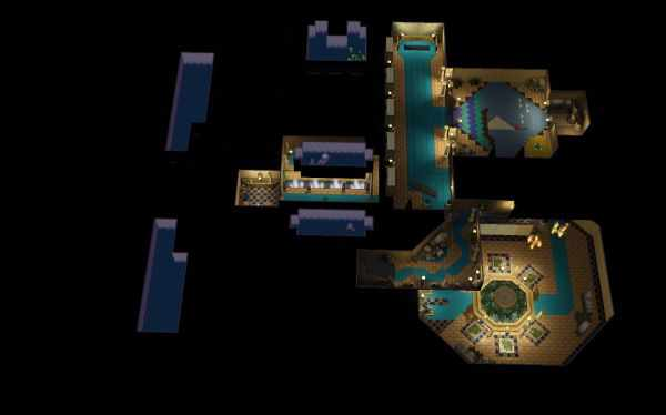 The dungeons in the Sims 3's World Adventures can be huge, but easy to navigate.