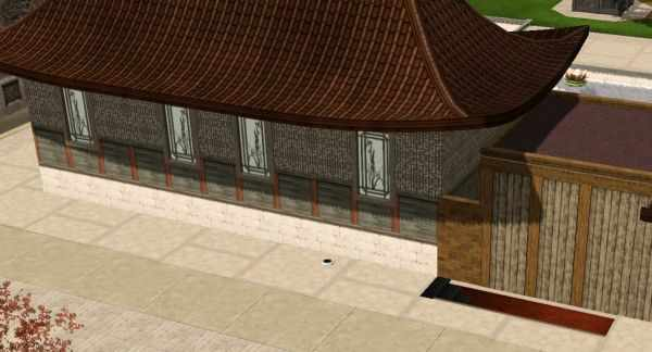 The Sims 3 World Adventures Shang Simla, China: The entrance behind the Marketplace leading to the Market Caverns