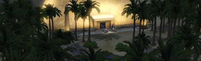 The Egyptian Pyramid of the Sky in the Sims 3 World Adventures