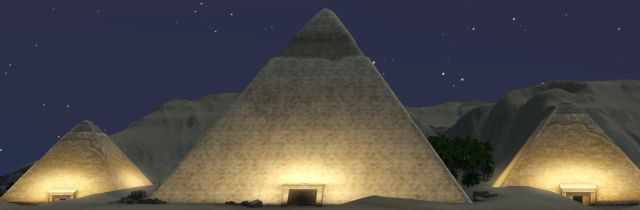 The Great Pyramid in the Sims 3 World Adventures