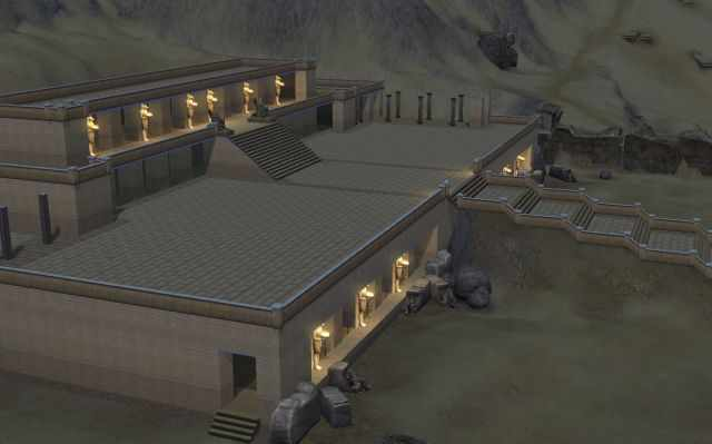 The Temple of Queen Hatshepsut in the Sims 3 World Adventures