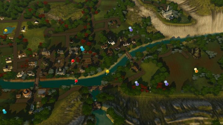 The Sims 3 Dragon Valley World: Central DV Collectible Map