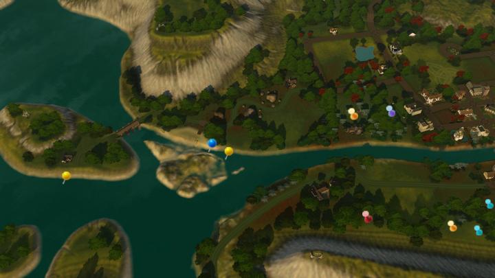 The Sims 3 Dragon Valley World: DV Delta Collectible Map