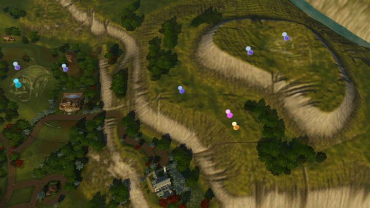 The Sims 3 Dragon Valley World: DV Hills Collectible Map