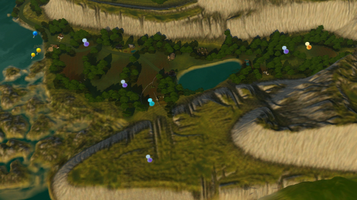 The Sims 3 Dragon Valley World: Eastern DV Collectible Map