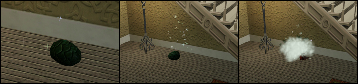 The Sims 3 Dragon Valley World: A Baby Dragon Hatches from an Egg