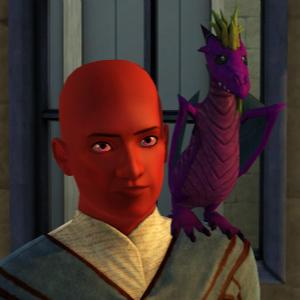 The Sims 3 Dragon Valley World: Baby Purple Dragon