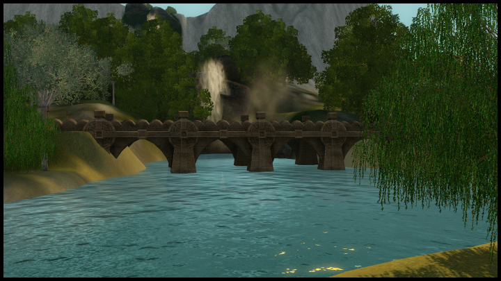 The Sims 3 Dragon Valley World: Waterfall
