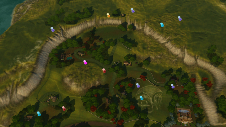 The Sims 3 Dragon Valley World: Western DV Collectible Map