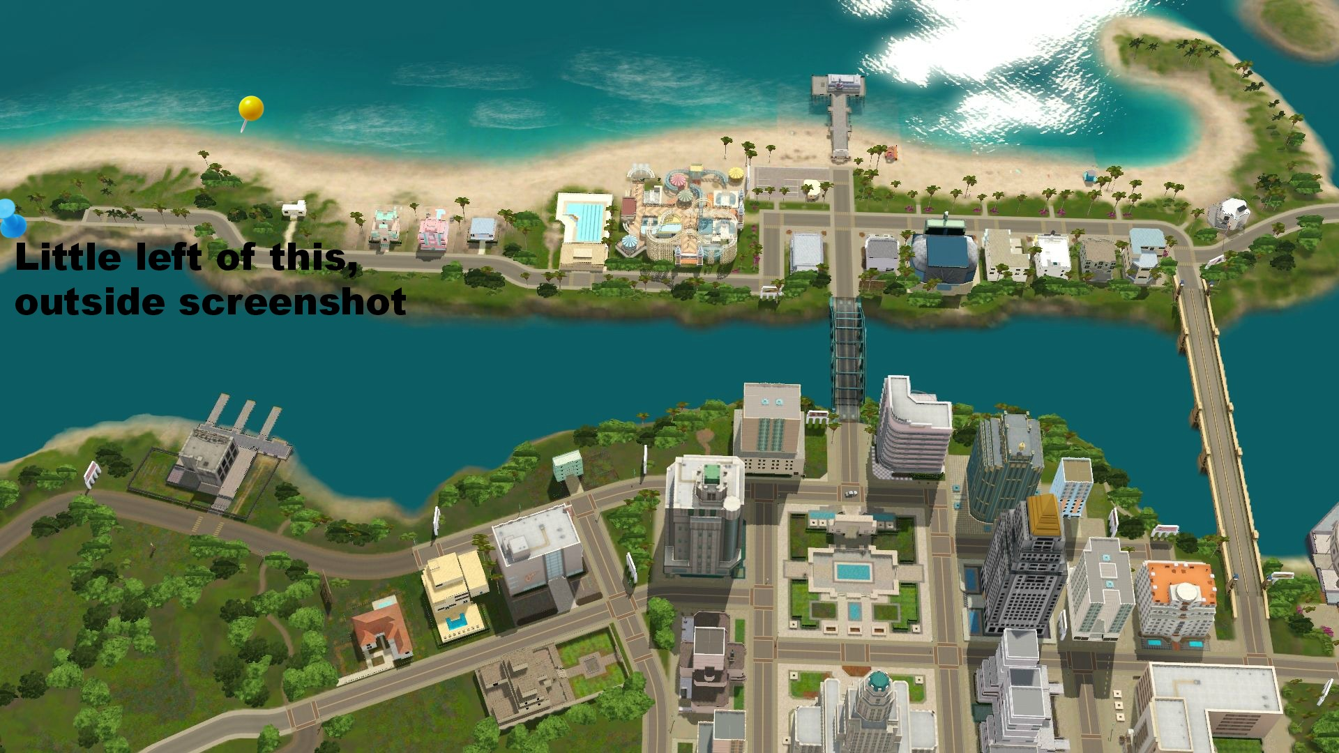 Sims 3 roaring heights world collectible maps rollercoasters roaring heights collectible map near the beach front publicscrutiny Gallery