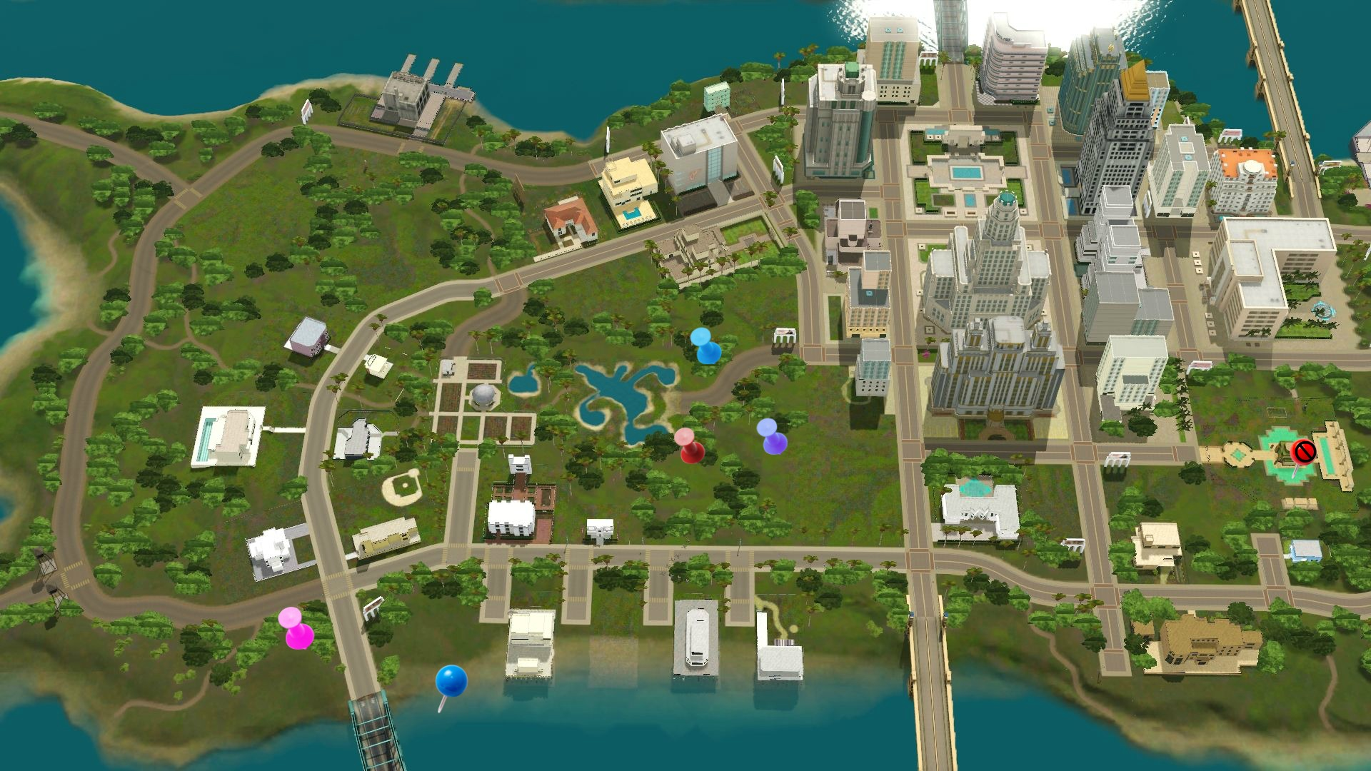 Sims 3 roaring heights world collectible maps rollercoasters map of the roaring heights town center showing where to find rare collectibles publicscrutiny Gallery