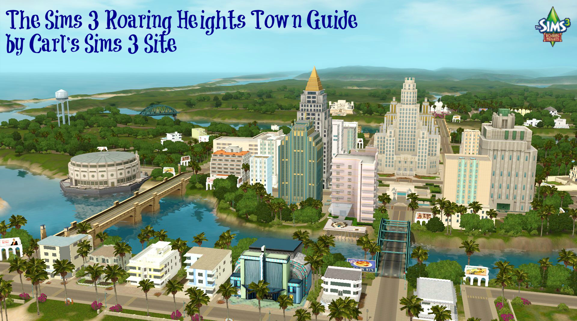 Sims 3 roaring heights world collectible maps rollercoasters the sims 3 roaring heights world a picture of the town gumiabroncs Choice Image